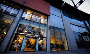 The Burberry shop in central Manchester.