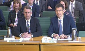 Google vice-president of finance, Tom Hutchinson, and the president of Google Europe, Matt Brittin give evidence to the Commons public accounts committee.
