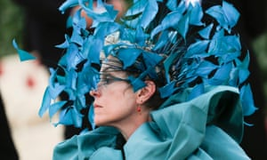 Frances McDormand in a headdress by Philip Treacy for Valentino.