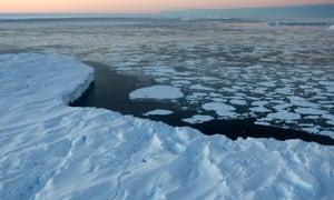 tabular icebergs ice floe drift Vincennes Bay Australian Antarctic Territory