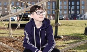 Rebecca Parkes, 12, in Glasgow