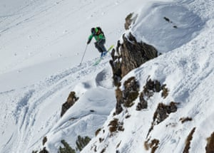 Reine Barkered competing on the 2016 Freeride World Tour.