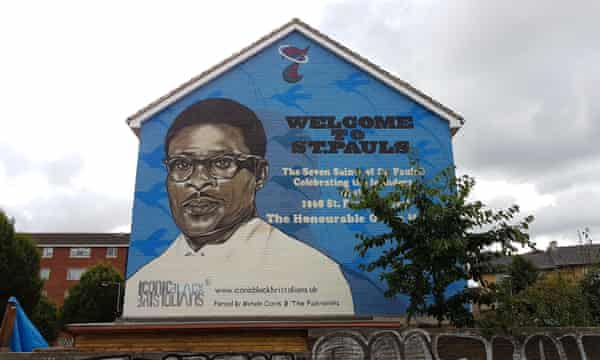 Mural of travel agent Owen Henry, who helped many people from the Caribbean settle in St Pauls.