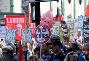 Placards on the march