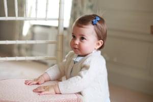 Princess Charlotte poses for a photograph at Anmer Hall, Norfolk.