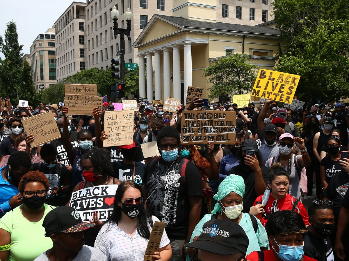Us Protests Live Hundreds Of Thousands March Against Racial Injustice As It Happened Us News The Guardian