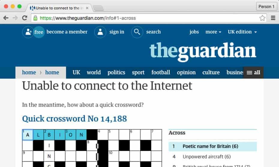 theguardian.com's offline page