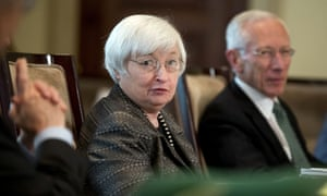 Federal Reserve Chair Janet Yellen (centre)