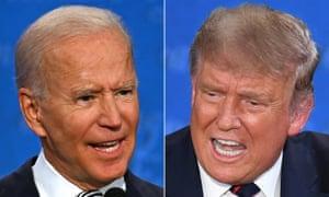 US election candidates Joe Biden and Donald Trump.
