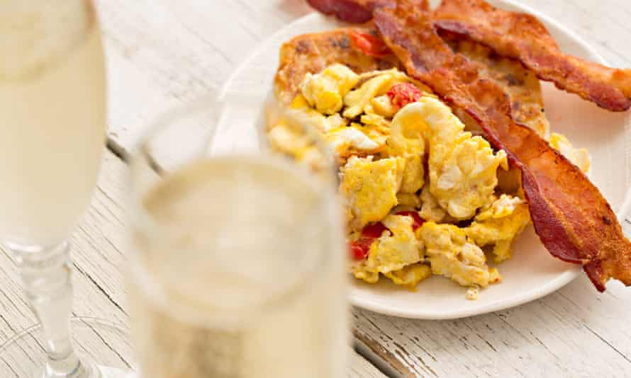 Eggs, bacon and unlimited booze.