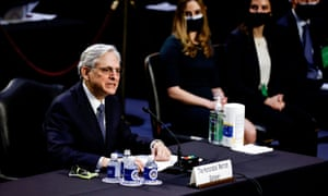 Merrick Garland testifies before a Senate Judiciary Committee hearing on his nomination to be U.S. Attorney General on Capitol Hill last week.