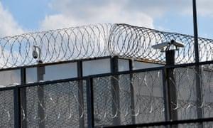 A prison fence
