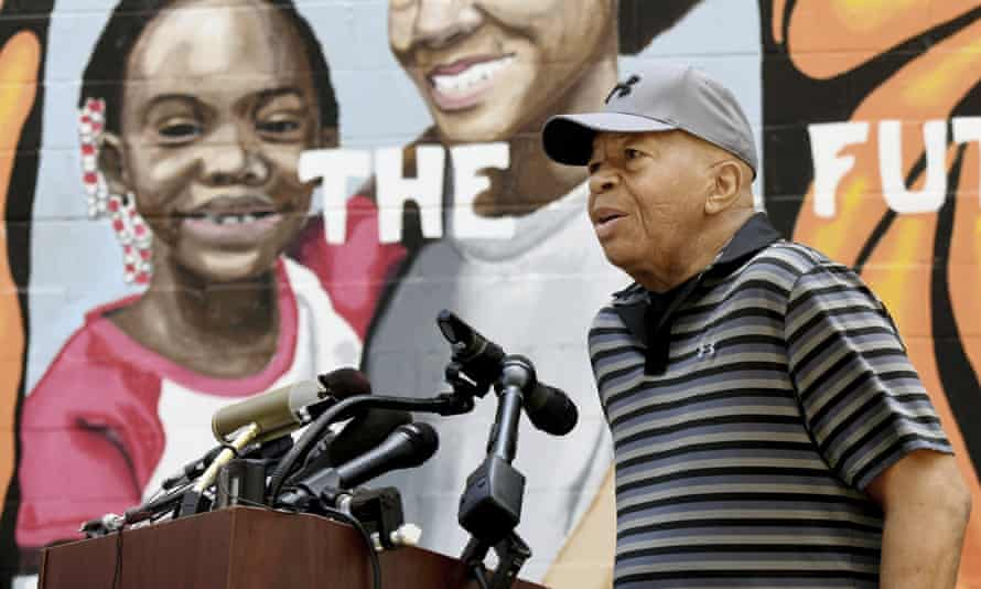 Elijah Cummings in West Baltimore, Maryland, on 3 August.