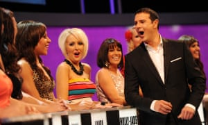 Paddy McGuinness chatting to contestants during the first season of Take Me Out