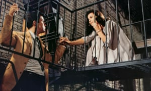 The Romeo and Juliet love story... Richard Beymer and Natalie Wood as Tony and Maria in the 1961 film.