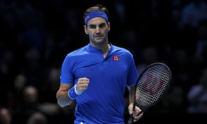 Roger Federer bounced back from an opening defeat to top his group in London, potentially avoiding Novak Djokovic in the semi-finals.