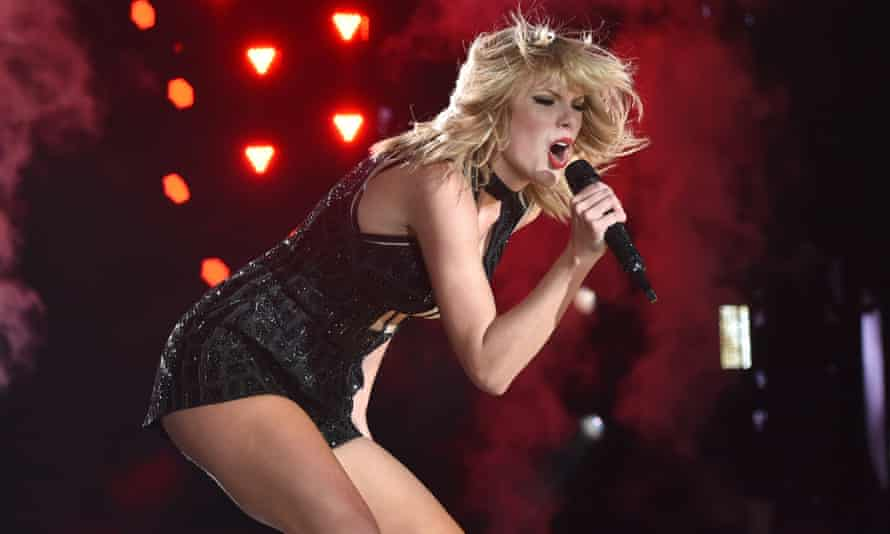 Taylor Swift performing at the United States Grand Prix in Austin, Texas, last year.