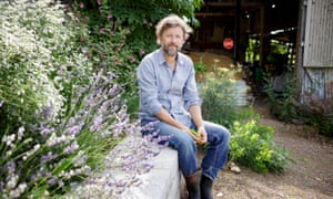 Country life: Dan Pearson in the barn garden at his Somerset farm.