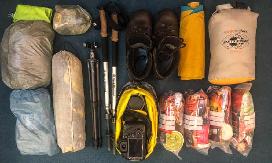 Equipment for the Morvern peninsula. It would be four days before the next chance to charge up and resupply