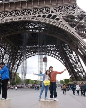 Alvie and Edite in Paris.