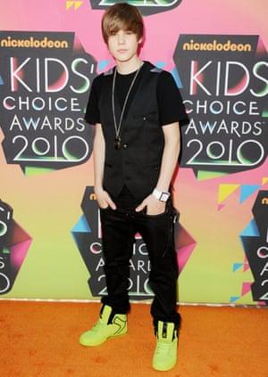 Sweet 16 … Justin Bieber in 2010.