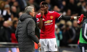 Paul Pogba was substituted by Jose Mourinho against Tottenham and then dropped for Huddersfield game.