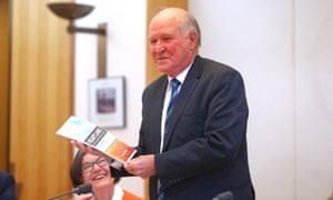 Former member for New England Tony Windsor and member for Indi Cathy McGowan at the launch of Heartland, a study into rural and regional media in Parliament House, Canberra this afternoon, Wednesday 9th September 2015