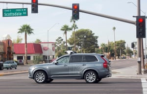 One of Uber's self-driving cars in Arizona. The crash has sparked a national discussion about the safety of a technology.