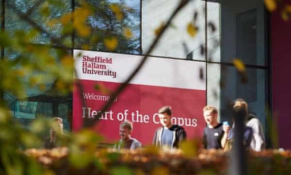 A student campus at Sheffield Hallam University.