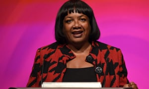 Diane Abbott speaking at the conference.