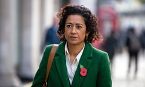 BBC presenter Samira Ahmed arriving at an employment tribunal over an unequal pay claim, October 2019