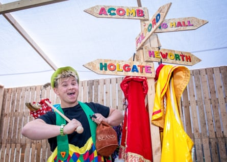 Josh Benson is one of the York Theatre Royal performers who will appear as part of its travelling panto programme.