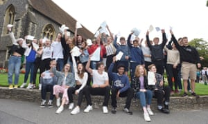 GCSE students celebrate receiving their results