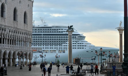 Attempts to divert massive cruise ships away from St Mark's Square will take years to complete.