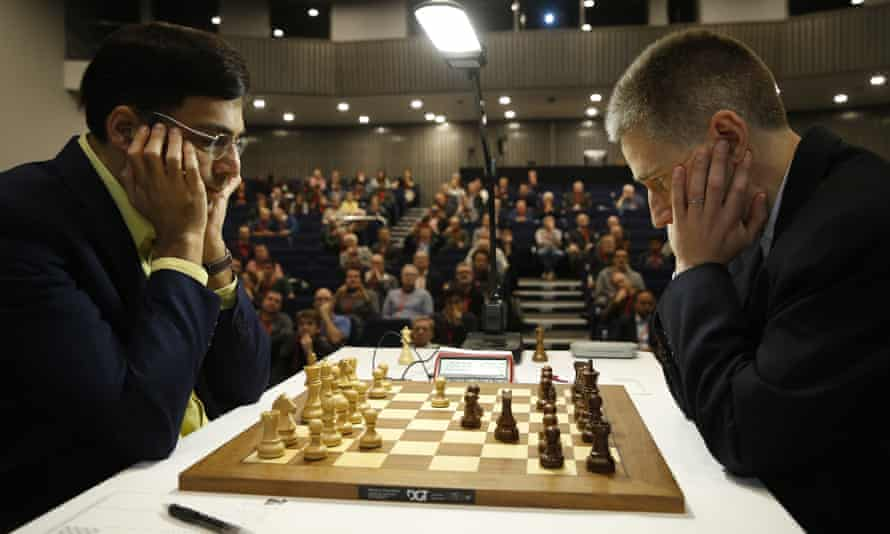 Two chess masters playing chess