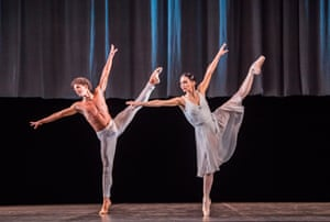Rojo and her partner, Isaac Hernández, in an ENB triple bill at Sadler's Wells last year
