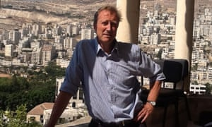 History teacher Michael Davies in Nablus