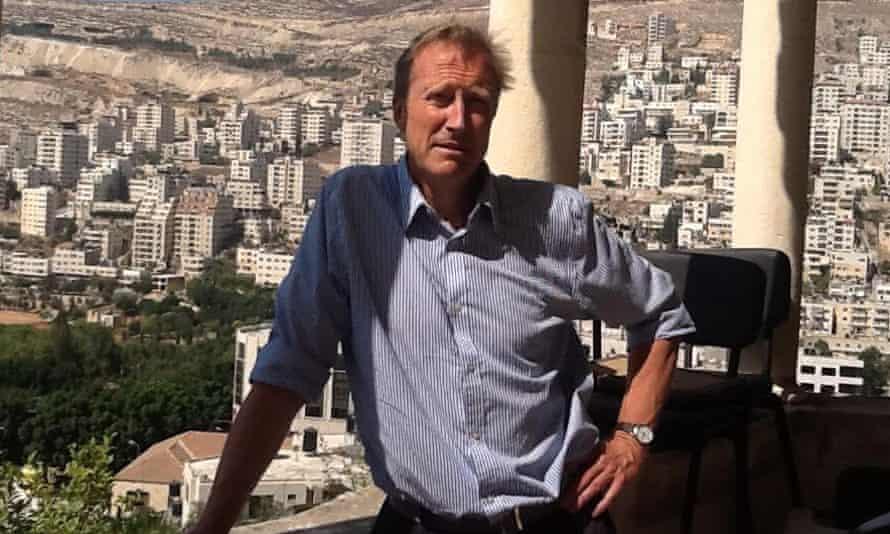 History teacher Michael Davies in Nablus