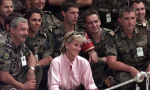 Diana, Princess of Wales, pictured with soldiers in Sarajevo, is the subject of documentaries marking her death.