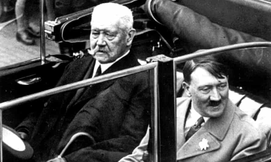 Hitler with German president Paul von Hindenburg in 1933.