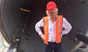 Richard Branson at the Hyperloop test site outside Las Vegas.