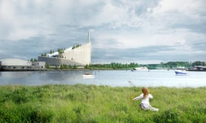 The Amager-Bakke power plant, on coastal land just east of Copenhagen.