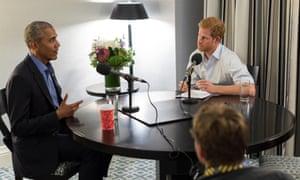 Harry interviews Barack Obama in Toronto.