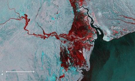 Cyclone Idai: satellite images show extent of flooding around Beira
