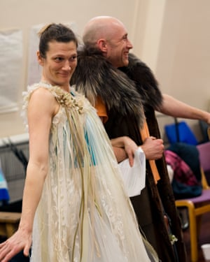 Charlotte Arrowsmith in RSC rehearsals for As You Like It.