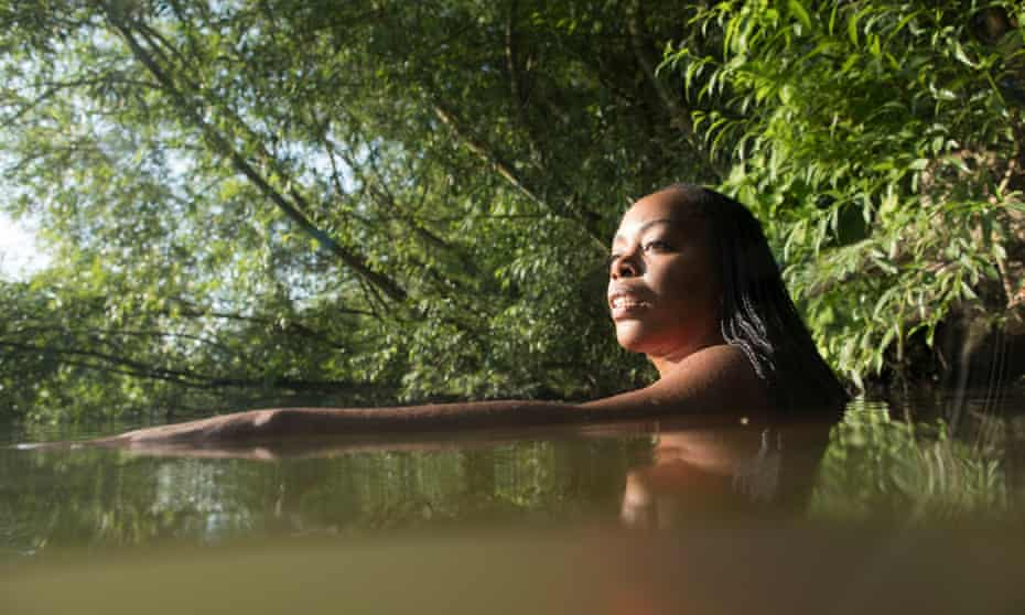 Rachel Edwards in the river