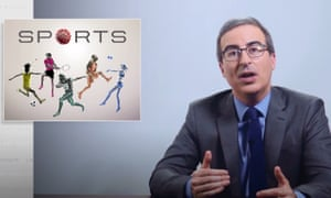 """John Oliver on potential plans to restart professional sports in the US: """"The second you start reading the details of any plan, it automatically becomes ridiculous."""""""