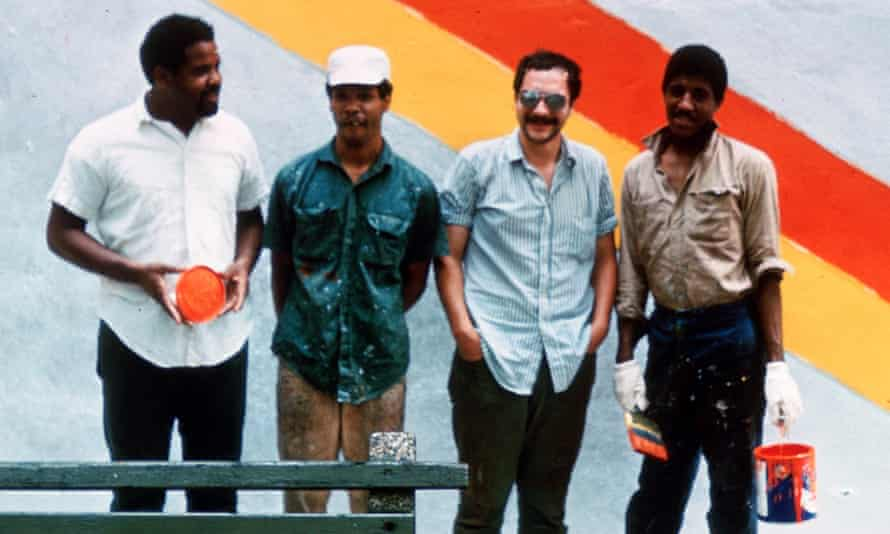 The Smokehouse muralists … from left, Melvin Edwards, Billy Rose, Guy Ciarcia and William T Williams, in Harlem.