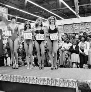 Saturday morning at the Hypermarket: Semi-final of the Miss Lovely Legs Competition, 1980For this reason, Goldblatt would usually carefully set up a tripod, composing and focusing the image with characteristic rigour.