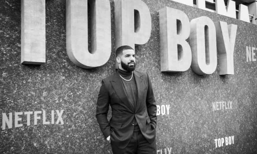 Drake at the premiere of Top Boy, 4 September.